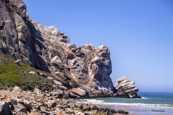 Morro Bay Digital Art - A Piece Of The Rock At Morro Bay 2 by Barbara Snyder