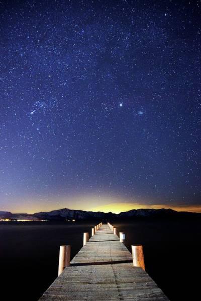 Lake Tahoe Photograph - A Pier On The East Shore Of Lake Tahoe by Rachid Dahnoun