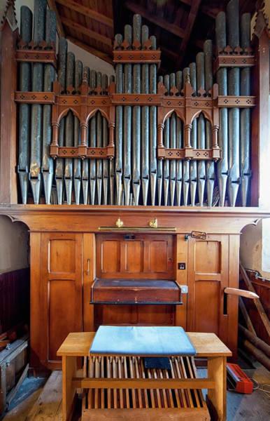 Pipe Organ Photograph - A Pipe Organ by John Short / Design Pics