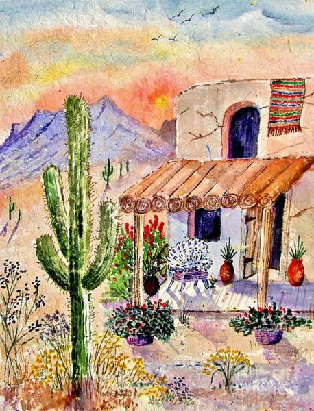 Adobe Walls Painting - A Place Of My Own by Marilyn Smith