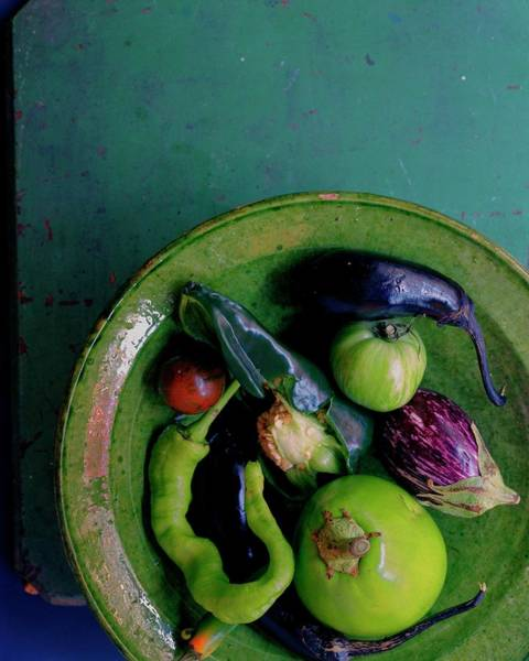Copy Photograph - A Plate Of Vegetables by Romulo Yanes