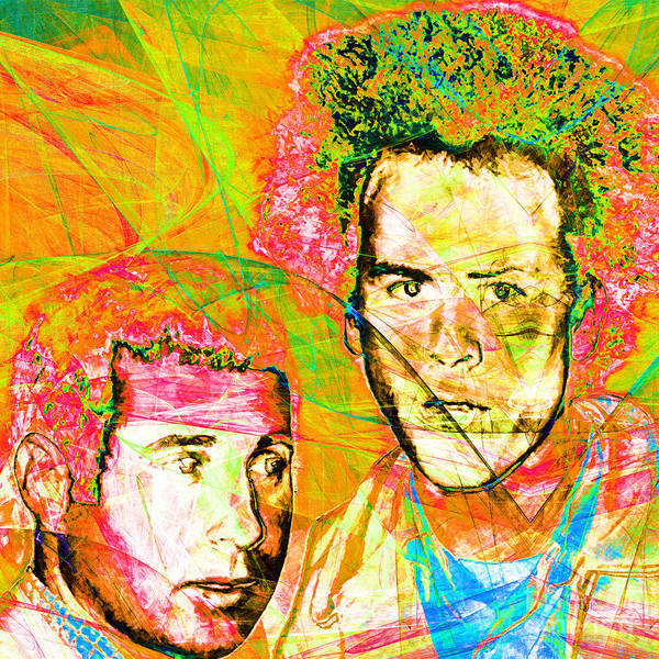 Photograph - A Poet And A One Man Band Simon And Garfunkel 20140908 Square V2 by Wingsdomain Art and Photography