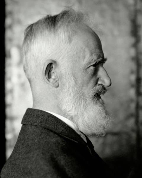 Head And Shoulders Photograph - A Portrait George Bernard Shaw by Nickolas Muray