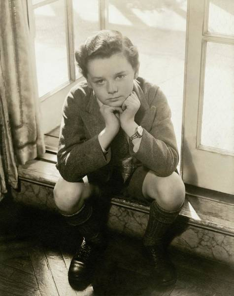 Male Portrait Photograph - A Portrait Of Actor Freddie Bartholomew by Lusha Nelson
