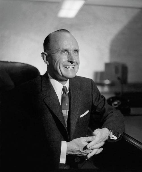 Red Cross Photograph - A Portrait Of Alfred M. Gruenther by Horst P. Horst