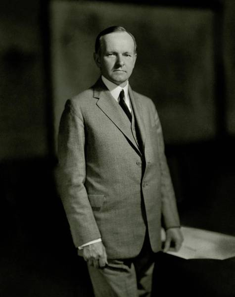 President Photograph - A Portrait Of Calvin Coolidge by Nickolas Muray