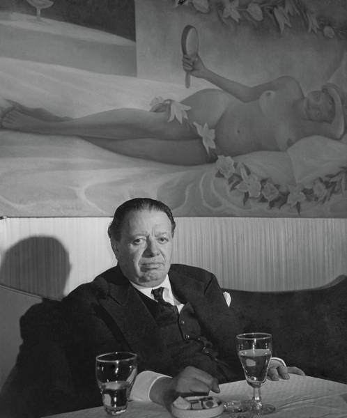 Male Photograph - A Portrait Of Diego Rivera At A Restaurant by Horst P. Horst