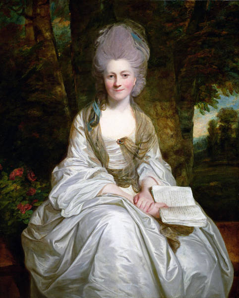 Wall Art - Photograph - A Portrait Of Dorothy Vaughan, Countess Of Lisburne, C.1777 Oil On Canvas by Sir Joshua Reynolds