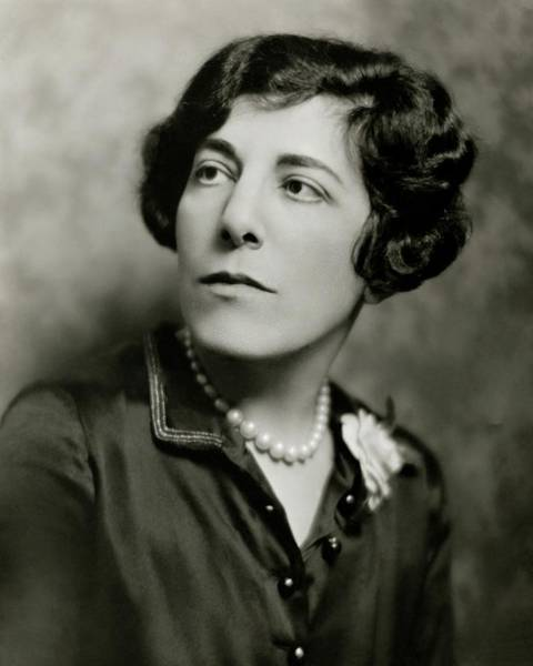 Head And Shoulders Photograph - A Portrait Of Edna Ferber by Nickolas Muray