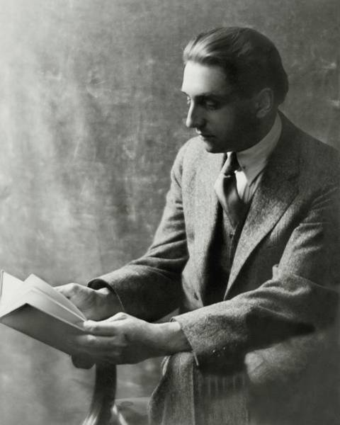 Reading Photograph - A Portrait Of Emerson Whithorne by Arnold Genthe