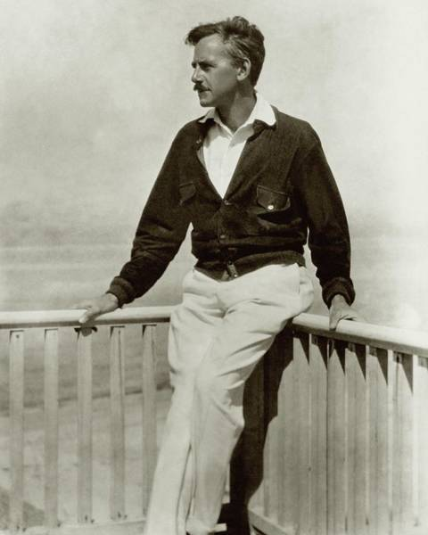 Male Portrait Photograph - A Portrait Of Eugene O'neill Leaning by Nickolas Muray