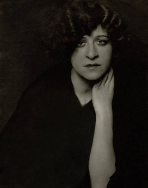January 1st Photograph - A Portrait Of Fanny Brice by Edward Steichen