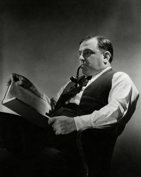 Reading Photograph - A Portrait Of Fiorello La Guardia by Lusha Nelson