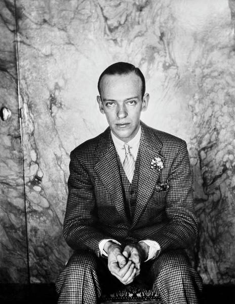 Formal Wear Photograph - A Portrait Of Fred Astaire Sitting by Cecil Beaton