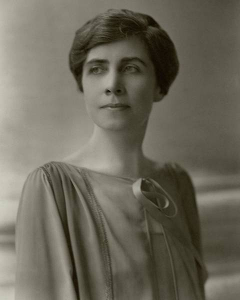 A Portrait Of Grace Coolidge Art Print by Nickolas Muray
