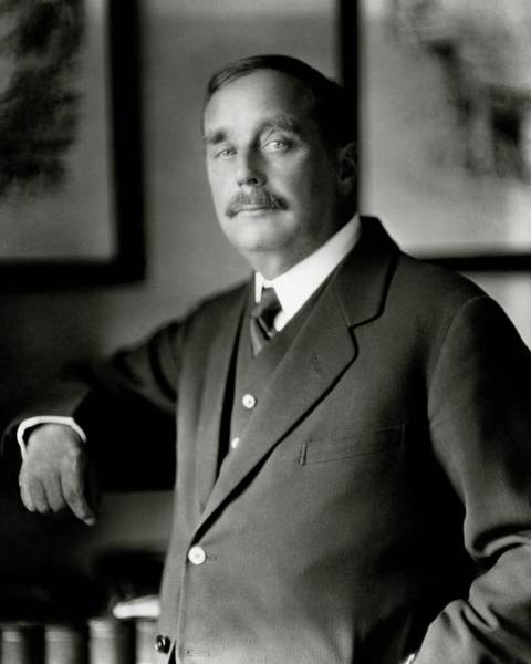 Authors Photograph - A Portrait Of H. G. Wells by Nickolas Muray