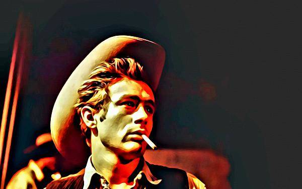 Painting - A Portrait Of James Dean by Florian Rodarte