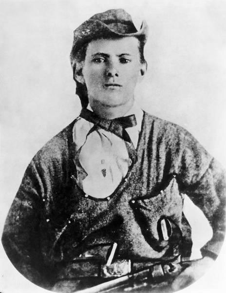 1863 Photograph - A Portrait Of Jesse James by Underwood Archives