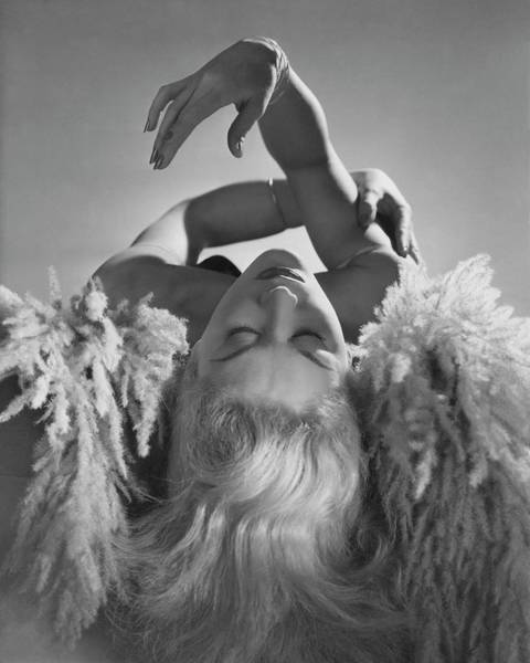 Photograph - A Portrait Of Lisa Fonssagrives Lying by Horst P. Horst