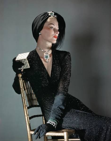 Luxury Photograph - A Portrait Of Lisa Fonssagrives Sitting by Horst P. Horst