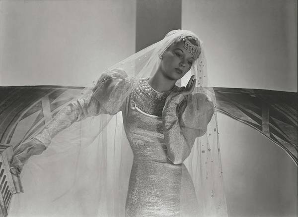 Lisa Fonssagrives Photograph - A Portrait Of Lisa Fonssagrives Wearing A Wedding by Horst P. Horst