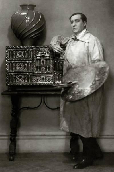Vase Photograph - A Portrait Of Lucien Muratore by Francis Bruguiere