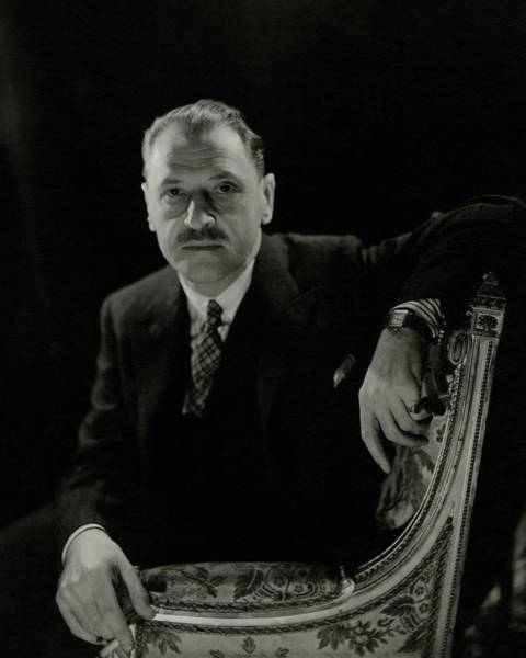 Photograph - A Portrait Of Somerset Maugham by Cecil Beaton