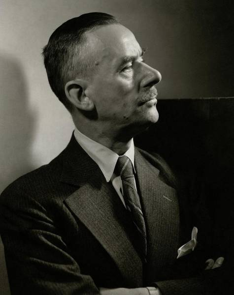 Middle Aged Photograph - A Portrait Of Thomas Mann by Edward Steichen