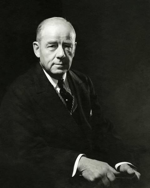 Male Portrait Photograph - A Portrait Of Thomas W. Lamont by Edward Steichen