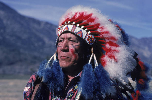 Wall Art - Photograph - A Portrait Of Tribal Man, California by Peter Essick
