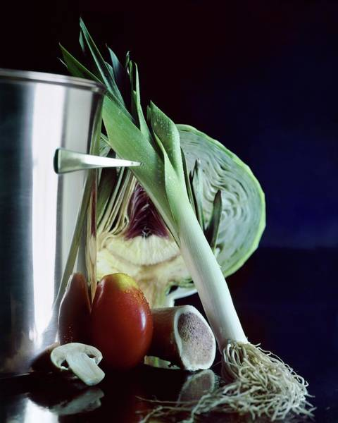 Still Life Photograph - A Pot With Assorted Vegetables by Fotiades