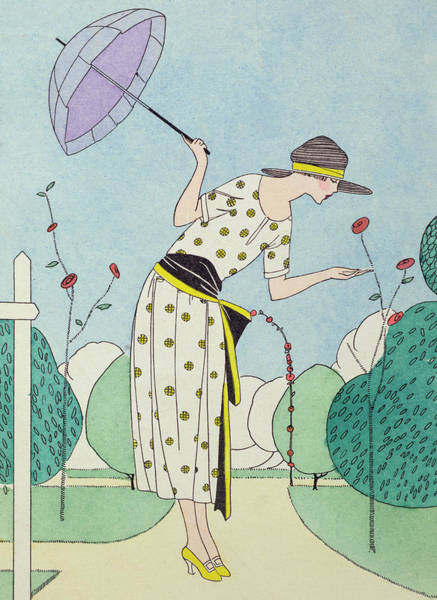 Parasol Painting - A Practical Dress For The Country  by Anonymous