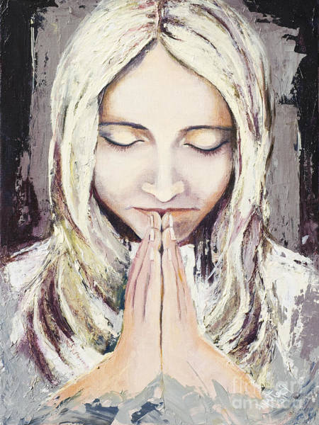 Wall Art - Painting - A Prayer... by Elisabeta Hermann