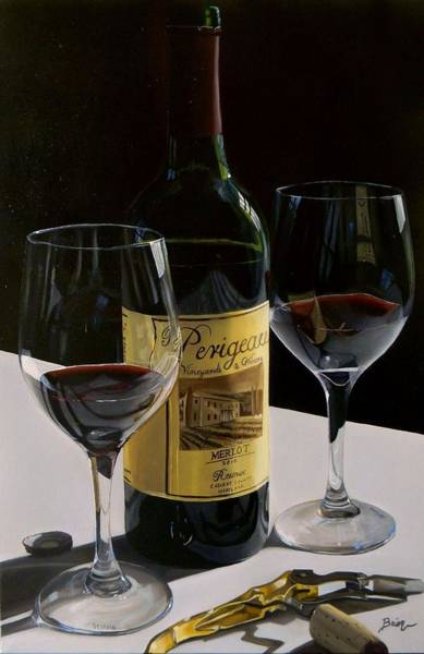 Tasting Painting - A Private Reserve by Brien Cole