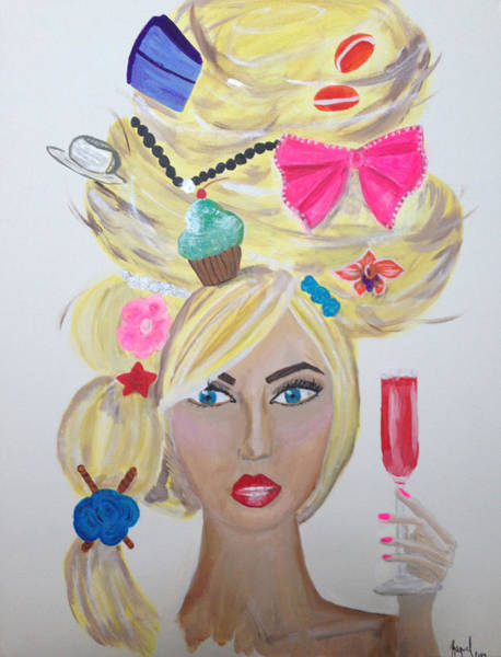 Pink Champagne Painting - A Proper Tea Party by Raquel Silva