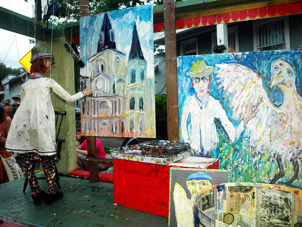 Photograph - A Puppet Paints In New Orleans by Mary Capriole