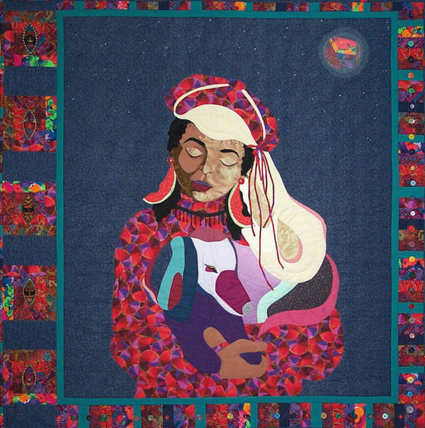 Tapestry - Textile - A Quiet Moment Under A Crazy Moon by MtnWoman Silver