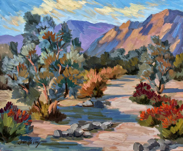 Wall Art - Painting - A Quiet Walk In Smoketree Forest by Diane McClary