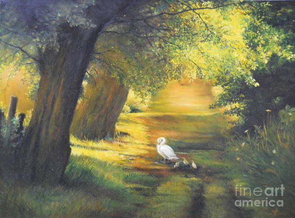 Painting - A Ray Of Sunshine  by Sorin Apostolescu