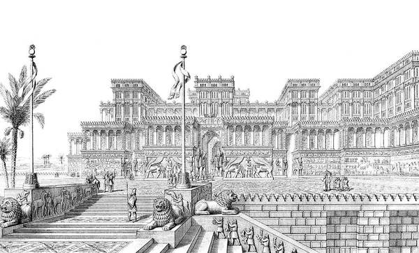 Reconstruction Drawing - A Reconstruction By Layard by Mary Evans Picture Library