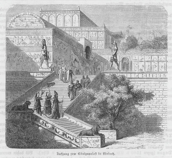 Reconstruction Drawing - A Reconstruction Of The  Elaborate by Mary Evans Picture Library
