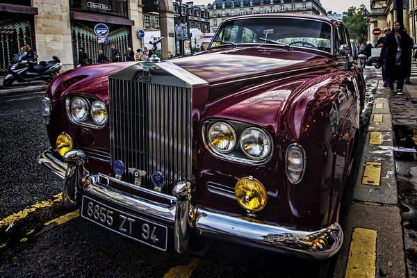 Photograph - A Red Rolls Royce  by Sven Brogren