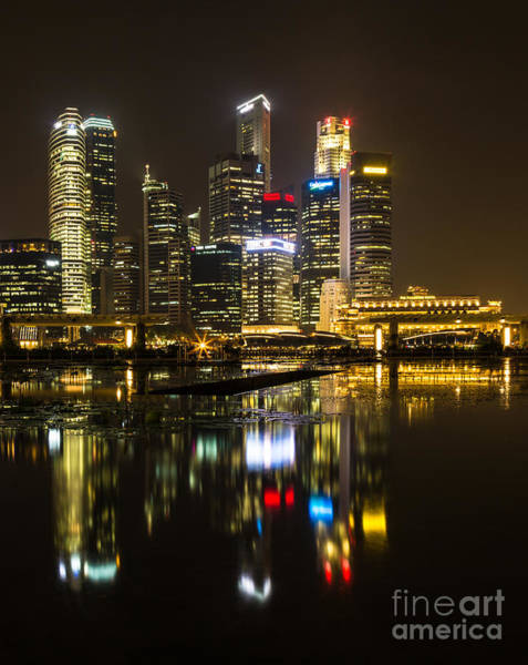 Photograph - A Reflection In Singapore by Didier Marti