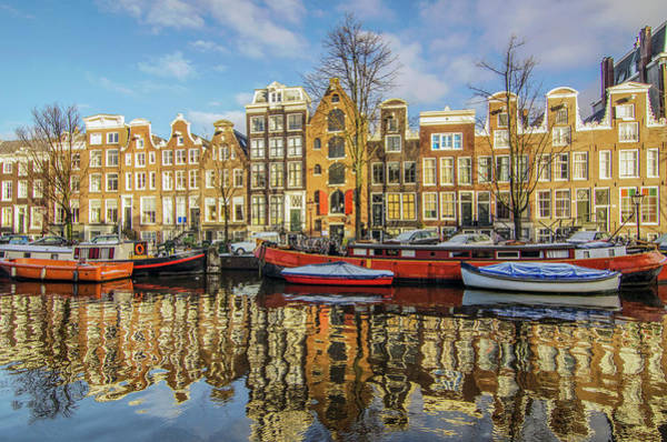 Prinsengracht Photograph - A Reflection Of Amsterdams by Gabriel Perez