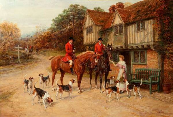 Inn Wall Art - Painting - A Refresher At The Dragon by Heywood Hardy
