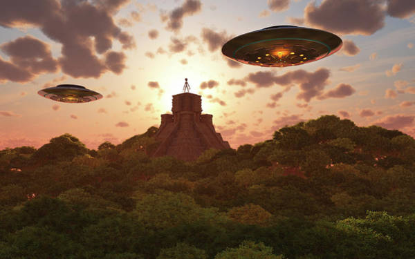 Ufology Photograph - A Remote Temple Hidden In The Jungles by Mark Stevenson
