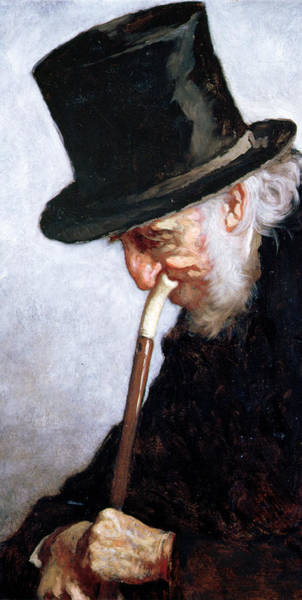 Merchant Painting - A Retired Sea Captain From Massachusetts by Eastman Johnson