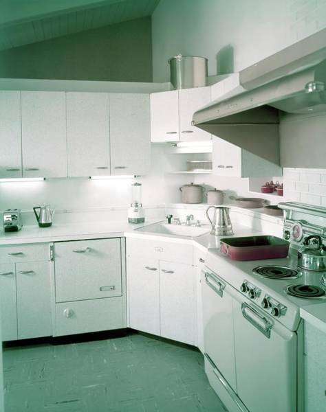 Photograph - A Retro Kitchen by Haanel Cassidy
