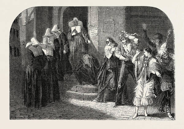 Wall Art - Drawing - A Return Of A Masked Ball by Litz Collection