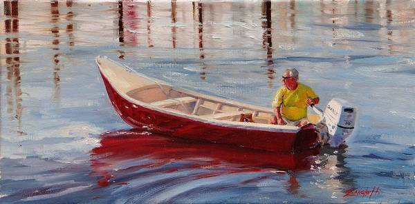 Coast Line Painting - A Ride For Keno by Laura Lee Zanghetti